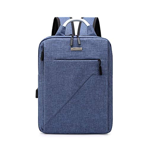 Travel Laptop Backpack with USB Charging Port+Anti-Theft[Water Resistant] College School Bookbag Fits 16 Inch Laptop (Color : Blue)