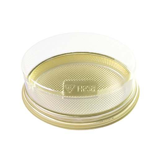 50/100 FBA Free Oval Shaped All Clear Cake Container With Gold Base (50)