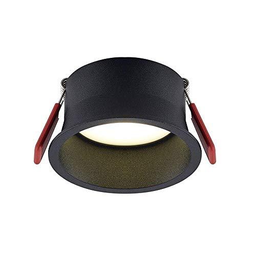 HSCW 7W / 9W / 12W / 15W / 18W LED Techo empotrado Luz estrecha borde anti deslumbramiento interior iluminación de iluminación de iluminación 92ra, ángulo de haz de 60 ° para baño, cocina, sala de est
