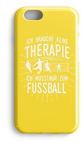 shirt-o-magic Handyhülle Fußballer: Therapie? Lieber Fußball - Case -iPhone 8 Plus-Gelb