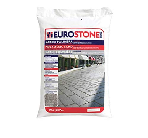Alliance Euroston Bond Polymeric Sand,for Natural Stone and Cobble Stone Paver Joints up to 1.5' (Black) 50 Lb Bag …