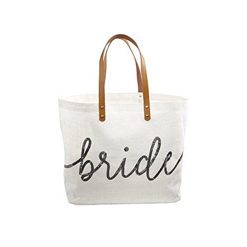 Mud Pie Silver Sequin Bride Tote Bag