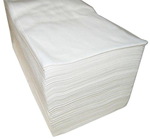 Wegwerphanddoeken, Van vliesstof, 40 x 80 cm, 100 stuks, voor kappers, cosmeticastudio, wit