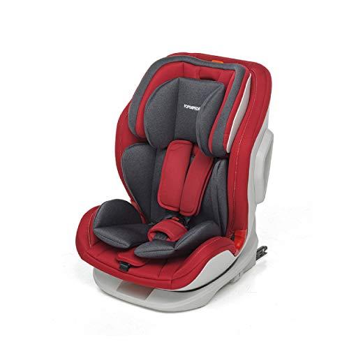 Foppapedretti Seggiolino Auto Tourist Gruppo 1,2,3 (9-36 Kg) per bambini da 9 Mesi a 12 Anni circa, Red, Collezione 2021