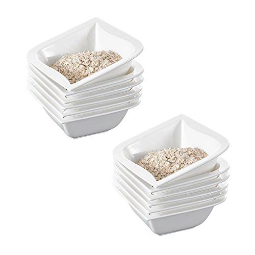 MALACASA, Serie Joesfa, 12 TLG. Set Schüsseln Set MüsliSchäle DessertSchälen Bowl für 12 Personen