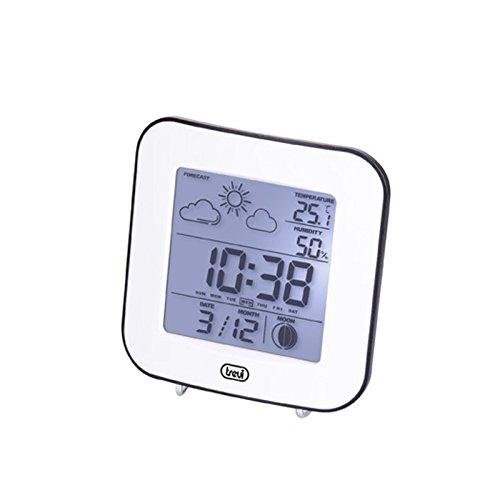 Trevi ME 3106 Stazione Meteo, Temperatura Interna, Umidità, Previsioni Meteo, Fase Lunare, Calendario, Sveglia, Bianco