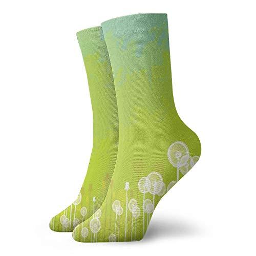 Calcetines de compresión para mujer y hombre, diseño de flores de Wild North Flowering Plant Summer Socks ideales para circulación, médico, correr