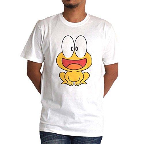 Tシャツ 半袖 メンズ ど根性ガエル ピョン吉 FRN2301M ぴょん吉 M ホワイト