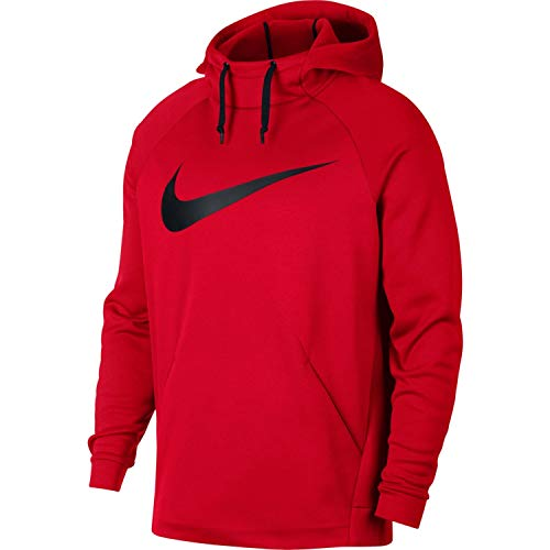 Nike Mens Therma Swoosh Essential Pull Over Hoodie University Red/Black 931991-657 Size X-Large