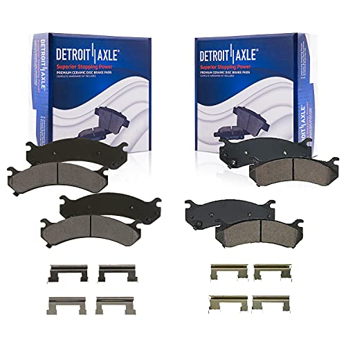Detroit Axle Front And Rear Ceramic Brake Pads
