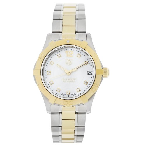 TAG Heuer Women's WAF1320.BB0820 'Aquaracer' Stainless Steel, 18k Gold, and Diamond Watch