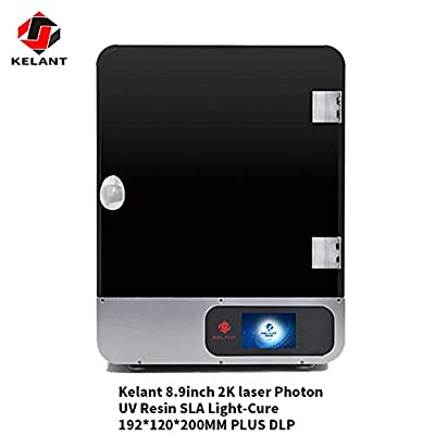 """KELANT S400s 8.9 inch Large UV Light Curing LCD 3D Printer, Print Size 7.55""""(L) x 4.72"""" (W) x 7.87""""(H) Offline Printing with 3.5 inch Smart Touch Color Screen"""