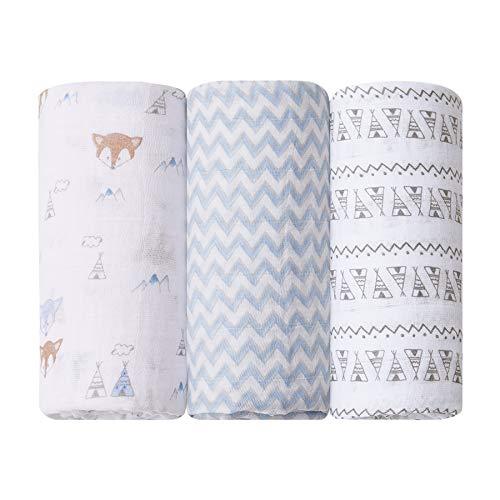 Cueiro Swaddle Soft Premium Papi Baby 1, 20M X 1, 20M 03 Un, Papi Textil, Azul