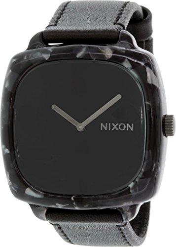 Nixon Damen Analog Quarz (Japanisch) Uhr mit Leder Armband A167-1040_Gray Granite