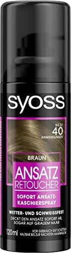 Syoss Ansatz Retoucher Kaschierspray, Braun Stufe 1, 3er Pack (3 x 120 ml)