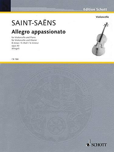 Allegro appassionato: h-Moll. op. 43. Violoncello und Klavier. (Cello-Bibliothek)