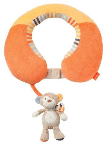 Fehn neksteun – nekkussen met klein rammeldier voor baby's en peuters vanaf 6 maanden – ondersteunt en ontlast in kinderwagen, babyschaal of auto Koala, Monkey Donkey Koala, Monkey Donkey