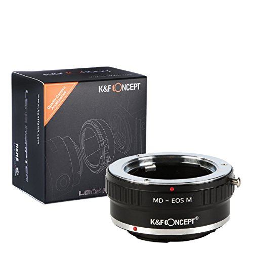 K&F Concept® MD-EOS M Objektiv Adapter Objektiv Adapterringe für Minolta MD/MC Objektiv auf Canon EOS-M Systemkamera M1 M2 M3