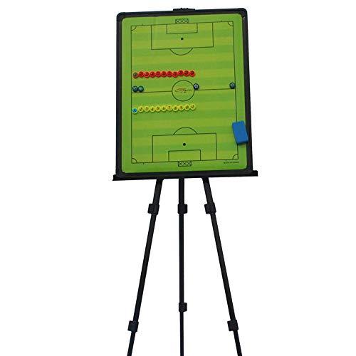 GJJSZ Tablero de tácticas de fútbol con Soporte,Tablero magnético de enseñanza de fútbol Utilizado para el diseño de tácticas de Entrenamiento de Partidos de fútbol,con Piezas de ajedrez magnéticas