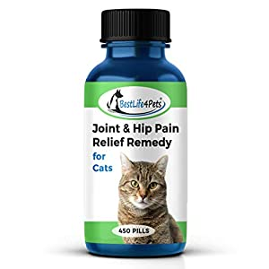 Cat Hip and Joint Pain Relief - Natural Anti-Inflammatory Remedy for Chronic Arthritis Pain and Joint Support Helps Restore Mobility, Energy, and Flexibility - No Fuss, Easy to Use