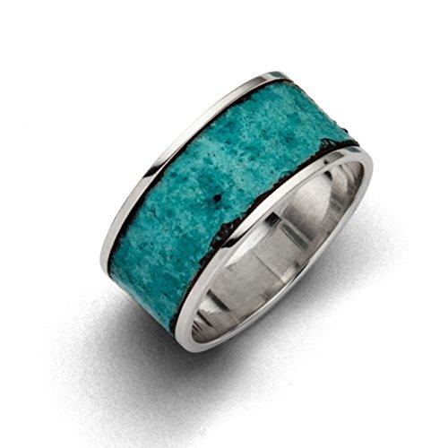Dur Schmuck Unisex Ring Patina mit Kupfer Silber 925/- (R4860) (Patina, 53 (16.9))