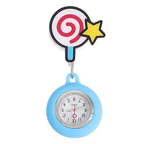 ifundom Adorable reloj de bolsillo útil enfermera reloj conveniente enfermera clip reloj