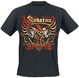 Sabaton Coat of Arms Hombre Camiseta Negro XXL, 100% algodón, Regular