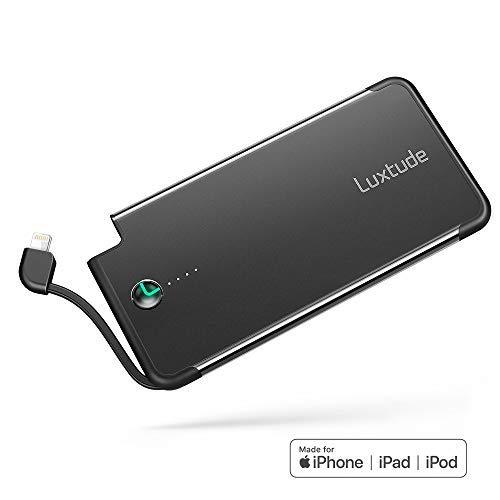 Luxtude Bateria Externa Movil iPhone 5000mAh, Powerbank con Lightning Cable,...