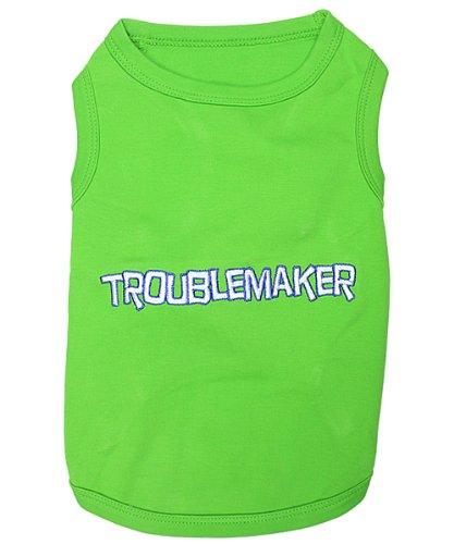 Parisian Pet Troublemaker Dog T-Shirt (Troublemaker, S) Review