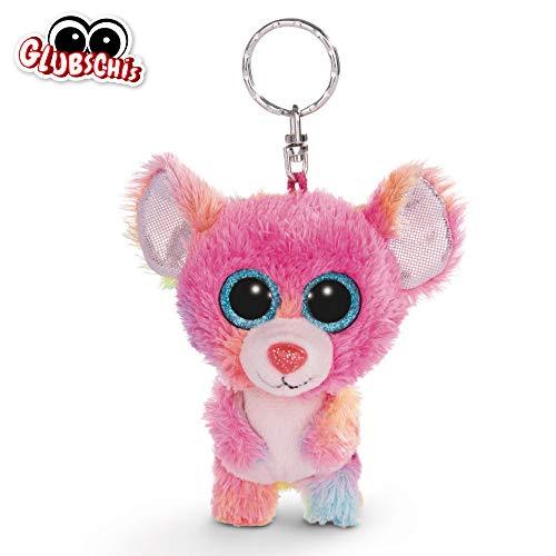 NICI Glubschis: Das Original – Glubschis Schlüsselanhänger Maus Candypop 9 cm – Maus Kuscheltieranhänger mit Schlüsselring für Schlüsselband, Schlüsselbund & Schlüsselhalter – 45547