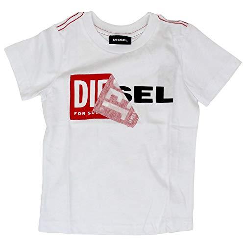 Luxury Fashion | Diesel Baby-jongens 00K1YI00YI9K100 Wit Katoen T-shirts | Lente-zomer 20
