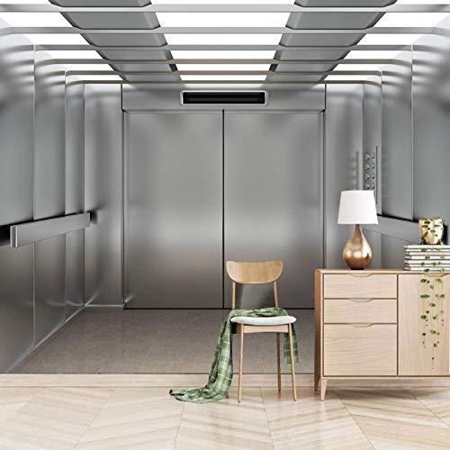 murales decorativos pared XXL 350x245cm Metal ascensor luces Papel pintado tejido no Murales moderna de fotomurales autoadhesivo Salón Dormitorio Despacho Pasillo murales decoración de paredes moderna