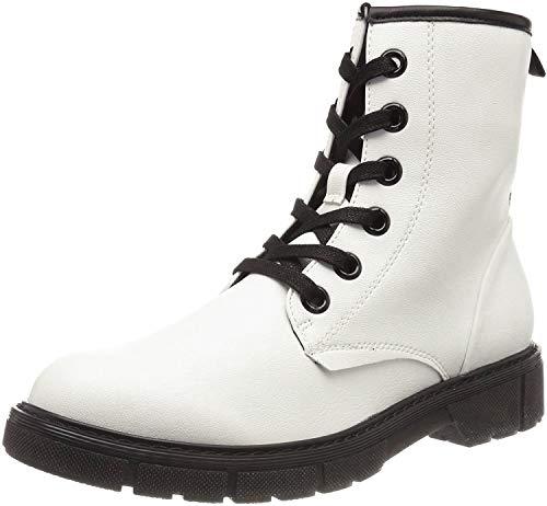 MARCO TOZZI Damen 2-2-25282-23 Biker Boots, Weiß (White Pat.Comb 190), 37 EU