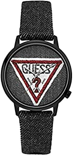 Guess Fashion Watch for Unisex, Stainless Steel Case, Black Dial, Analog -V1014M2