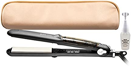 PURECODE Titanium infuse pro vapor flat iron & heat protector serum - hair straightener and curling iron 2 in 1 for hair styling