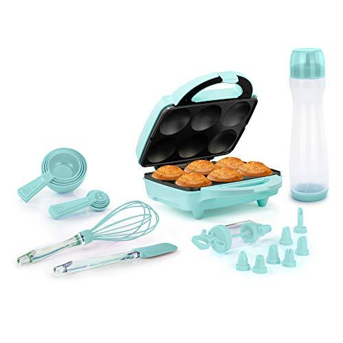 Holstein Housewares HF-09013I-BU 6-Count Kit, Mint Cupcake Maker, Makes 6