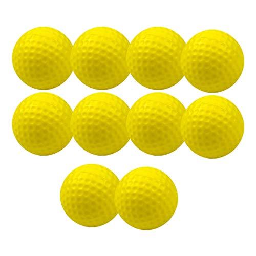 MagiDeal Juego de 10 Pelotas de Práctica de Golf para Deportes Al Aire Libre PU de 1,65 Pulgadas para Ayuda de Entrenamiento