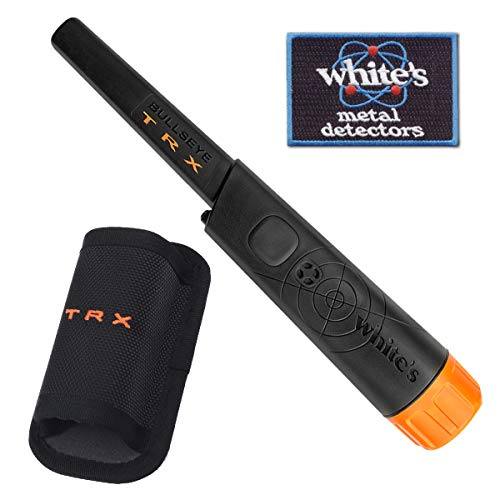 White's TRX Bullseye Waterproof Pin-Pointer with Holster and Iron-On Patch -...
