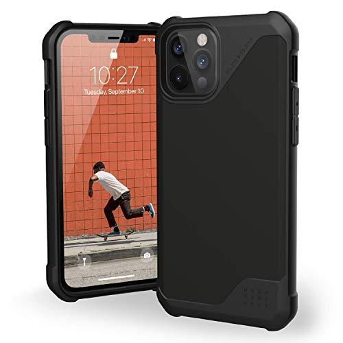 Urban Armor Gear Metropolis LT Funda Apple iPhone 12 / iPhone 12 Pro (6,1') [Protección anticaída estándar Militar, Compatible Carga inalámbrica (Qi), Funda Resistente] Satin ARMR Negro