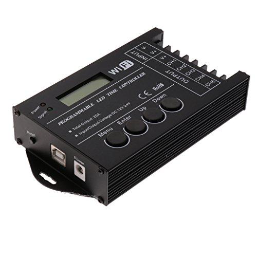 LOVIVER DC12-24V 20A Multifuncional 5 Canales TC421 Controlador De Tiempo Programable LED