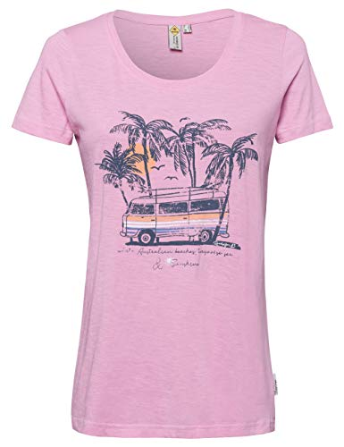 ROADSIGN Australia T-Shirt mit Bulli-Print, Rundhals, rosa|XXL