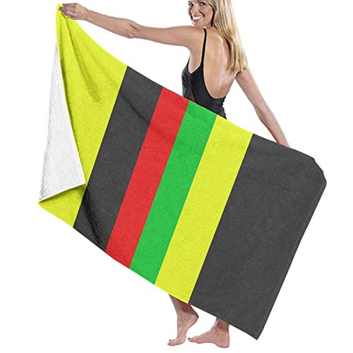 ghjkuyt412 Bath Towel,80X130Cm Rasta Jamaica Raggae Bath Towels Super Absorbent Beach Bathroom Towels For Gym Beach SWM SPA