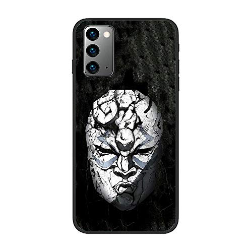 Black Thin Matte TPU Phone Cases Shockproof Silikon Coque Cover for Samsung Galaxy Note 20 Plus +/20 Ultra-Jojo-Adventure Anime 8