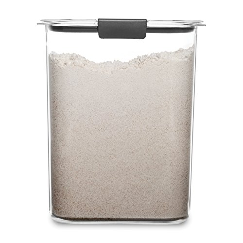 Rubbermaid 1994228 Container, BPA Free Plastic, Brilliance Pantry Airtight Food Storage, Open Stock, Flour (16 Cup)