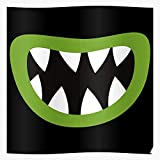 Smiley Horror Monster Cute Mouth Costume Happy Smile I FSGdecor- The Most Impressive and Stylish Indoor Decoration Poster Available Trending Now