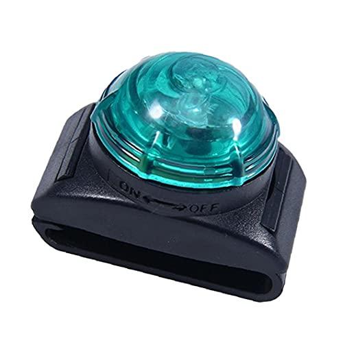 Collar de perro con luz LED de advertencia de seguridad, pequeño clip ligero para el collar, arnés verde correa