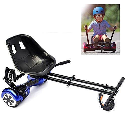 """WYJW Go Kart for Electric Scooter Hoverkart Self Balancing Go Cart Seat with Double Rod Design and Double Shock Absorbers Compatible with Classic 6.5"""" to 10"""" and Off Road 8.5"""" Self Balance Board"""