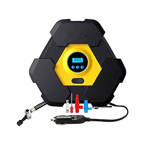 XTZJ Inflador de neumáticos de compresor de aire portátil con calibre, bomba de aire digital automática para neumáticos de automóviles con luz LED adicional, bomba de neumático DC 12V 150 PSI para aut