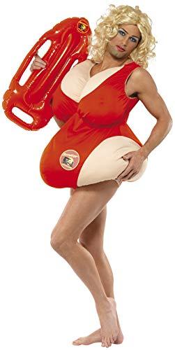 Smiffys Unisex Baywatch Kostüm, Gepolsterter Badeanzug, Größe: One Size, 36735