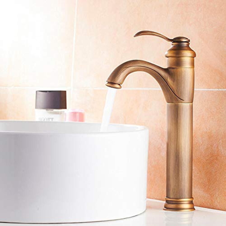 Ayhuir Hohe Klassische Antike Messing Badezimmer Basin Wasserhahn Waschbecken Mischbatterie Deck Montiert Wasserhahn Einzigen Handgriff Wc Wasserhahn Duschhahn